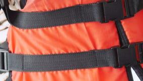 Orange life safety jacket Royalty Free Stock Image