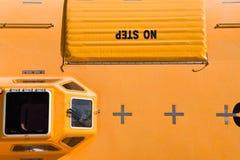 Orange lifeboat Royalty Free Stock Photos