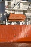 Orange lifeboat Stock Photography