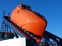 Orange Lifeboat Royalty Free Stock Photography
