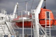 Orange Lifeboat Stock Photos