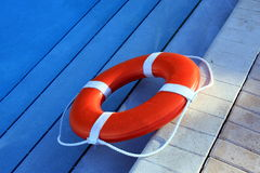 Orange Lifebuoy Royalty Free Stock Image