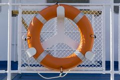 Lifebuoy on board stock photos