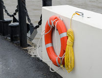 The orange lifebuoy Stock Images
