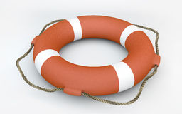 Orange Lifebuoy Royalty Free Stock Photos