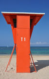 Orange Lifeguard Stand Royalty Free Stock Photography