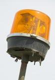 Orange light beacon. Emergency vehicle lighting system detail, orange beacon with rotating mirrors Stock Photography