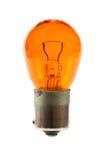 Orange light bulb. Isolated on white background Royalty Free Stock Photography