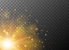 Orange light burst on gray background. Illustration Royalty Free Stock Images