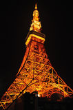 Orange light display at Tokyo Tower  in Tokyo, Japan Stock Images