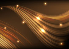 Orange light line wave abstract background vector Stock Image