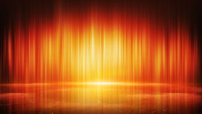 Orange light lines and reflection abstract background Stock Images
