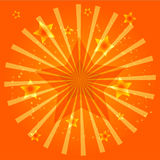 Orange Light Star Stock Image