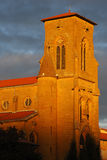Orange light on steeple Royalty Free Stock Photo