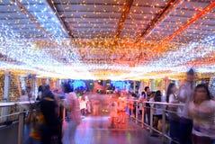 Orange light tunnel Stock Photo
