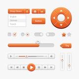 Orange Light User Interface Controls. Web Elements. Website, Software UI Royalty Free Stock Photo
