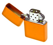 Orange lighter isolated on white Royalty Free Stock Photography