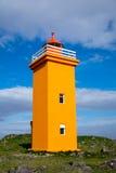 Orange lighthouse in Iceland Stock Image
