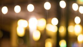 Orange Light Bokeh stock photography