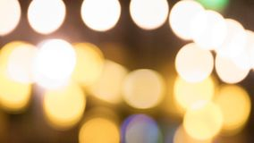 Orange Light Bokeh royalty free stock photography