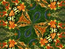 orange liljar Royaltyfria Foton