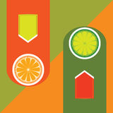 Orange and Lime Stock Images