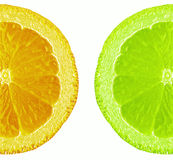 Orange and lime. Illustration Royalty Free Stock Photography