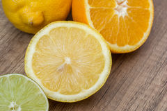 Orange And Lime Citrus Fruits Stock Images