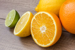 Orange And Lime Citrus Fruits Royalty Free Stock Images