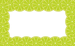Orange (lime) frame vector illustration Royalty Free Stock Images