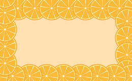 Orange (lime) frame vector illustration Stock Photography