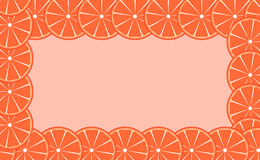 Orange (lime) frame vector illustration Stock Photo