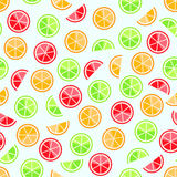 Orange lime grapefruit seamless pattern Stock Images