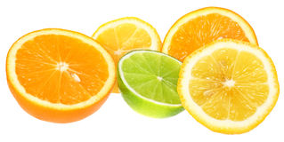 Orange, lime and lemon. Stock Images