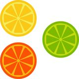 Orange, lime, lemon Royalty Free Stock Image