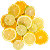 Orange, Lime And Lemon Fruit Slices IX Royalty Free Stock Photo