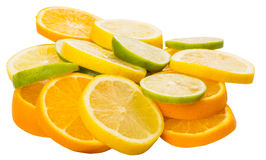 Orange, Lime And Lemon Fruit Slices VIII Royalty Free Stock Photography