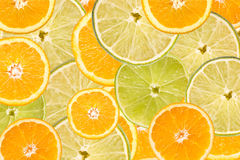 Orange And Lime Slice Abstract Stock Image