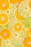 Orange And Lime Slice Abstract Royalty Free Stock Image