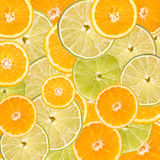 Orange And Lime Slice Abstract Royalty Free Stock Photo