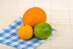 Orange, lime, tangerine Royalty Free Stock Photography