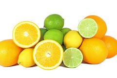 Orange, limes and lemon Royalty Free Stock Images