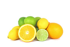 Orange, limes and lemon Stock Image
