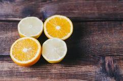 Orange And Limon. On dark background Stock Photography