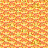 Orange line half golden glitter seamless pattern Royalty Free Stock Images