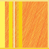 Orange line on a yellow background Stock Photo