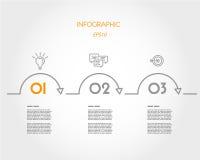 Orange lineares infographic Stockfoto