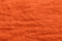 Orange linen cloth background Stock Photo