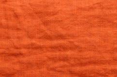 Orange linen cloth background Stock Photo