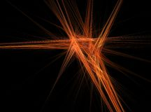 Orange lines abstract fractal effect light background Royalty Free Stock Photos